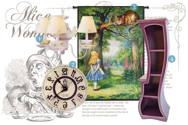 Alice in wonderland inspired home d cor for Fairytale inspired home decor