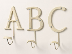 Anthropologie's Letter Hooks