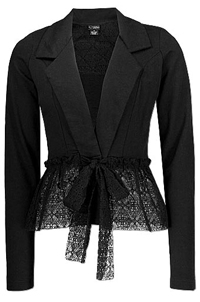 Daytrip black lace blazer.