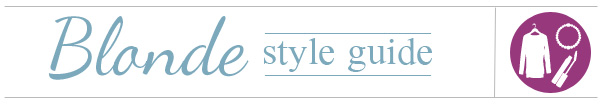 Style guide for blondes