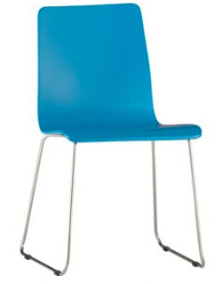 lacquered blue chairs from CB2 ($90)
