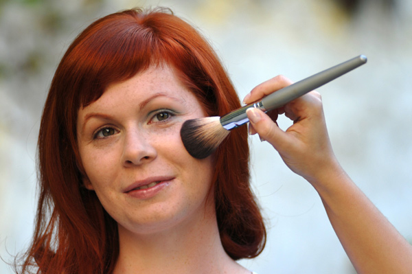 Blush for redheads