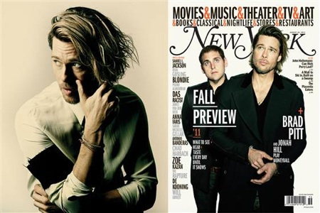 Brad Pitt and Jonah Hill NY Magazine Cover