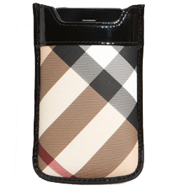 Burberry Check Print iPhone Sleeve