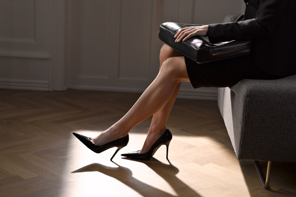 Business woman wearing heels