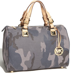camouflage-patterned satchel