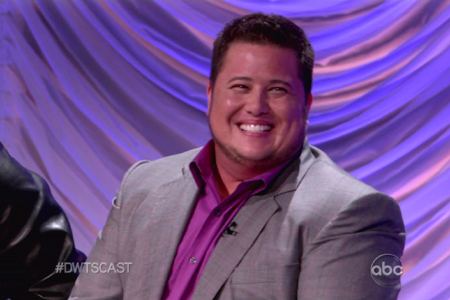 Chaz Bono DWTS spray tan