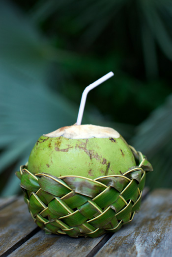 Coconut water from coconut