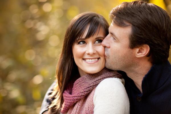 Cute fall couple