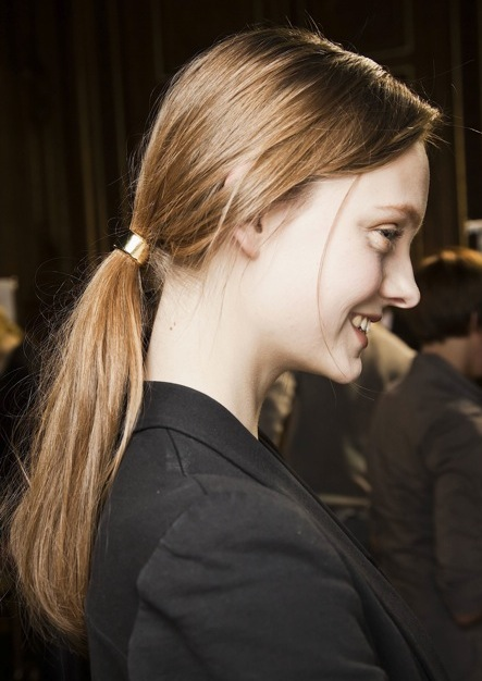 Dries Van Noten Fall 2011 Ponytail