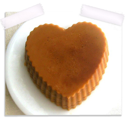 Chocolate & cocoa butter heart shaped lotion bar
