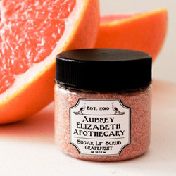 pink grapefruit sugar lip scrub