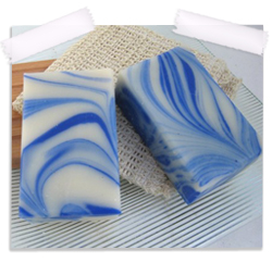 Mint swirl organic soap