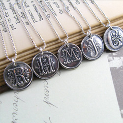 Monogram bridesmaid necklaces