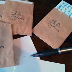 Guestbook note cards