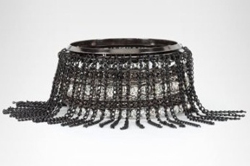 Woven Studded Fringe Bangle