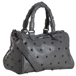 Gray studded satchel (Bluefly, $77)