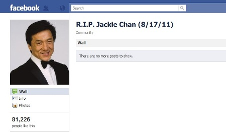 Jackie Chan death hoax