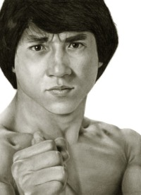 Jackie Chan pencil drawing