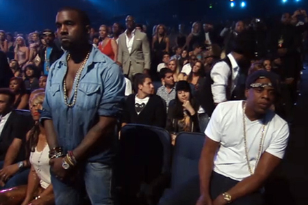 Jay-Z during Chris Brown's perfommance at VMAs