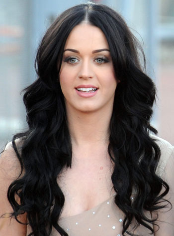 Katy Perry's black hair