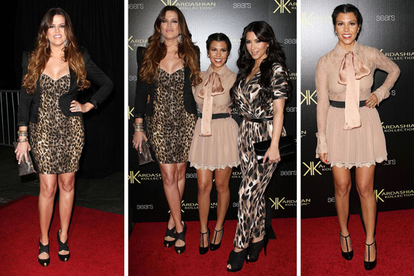 The Kardashian sisters at their Kollection launch party