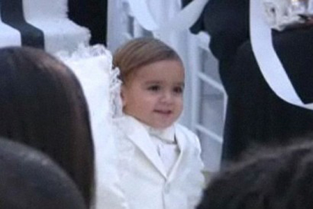Mason at Kim Kardashian 39s wedding All the guests had to wear white and