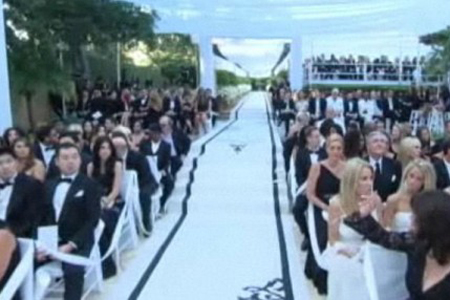 Wedding guests at Kim Kardashian wedding