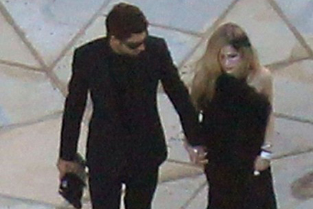 Brody jenner and Avril Lavigne at Kim Kardashian wedding