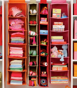 Land of Nod - I Think I Canvas hanging closet storage
