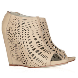 Laser cut leather ankle boots (The Outnet, $99)
