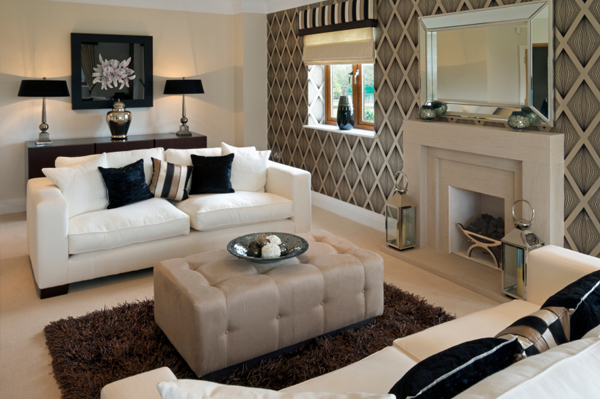 Decorating diva 6 ways to get a luxurious look for less for Exclusive living room designs