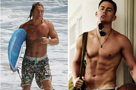 Matthew McConaughey and Channing Tatum shirtless
