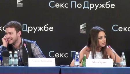 Mila Kunis & Justin Timberlake in Russia