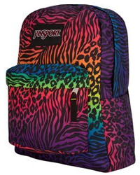 multicolor zebra backpack