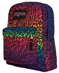 multicolor zebra backpack