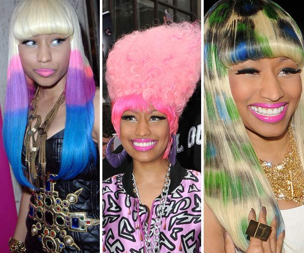 Nicki Minaj's colorful hair and pop princess beauty