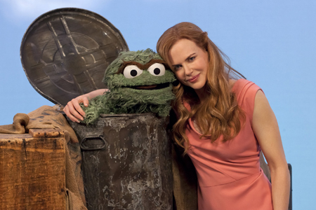 Nicole Kidman Oscar the Grouch