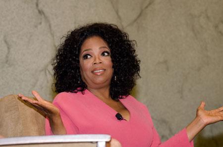 Oprah Winfrey teaching a master class