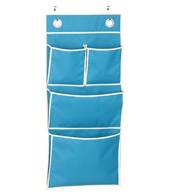 Over-the-door 4-pocket organizer (Crate & Barrel, $10.95)