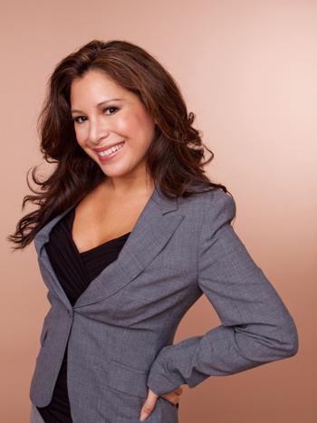 Woman wearing blazer