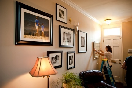 Tips for hanging artwork or photos