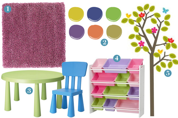 Playroom design and accessories