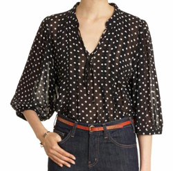 Polka dot blouse