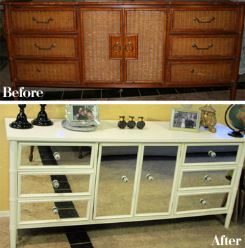 Repainted Furniture Pleasing With Repaint Furniture Before and After Picture