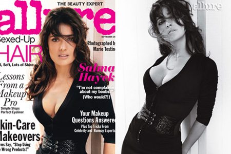 Salma Hayek on Allure magazine
