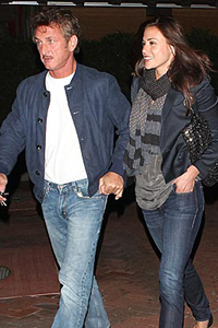 Sean Penn and Shannon Costello