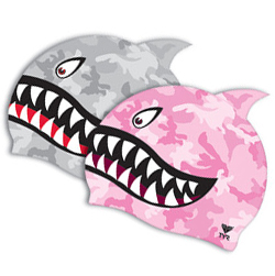 Shark swim cap