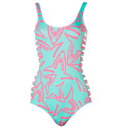 Shark Attack Nora Side Cutout Swim Suit,