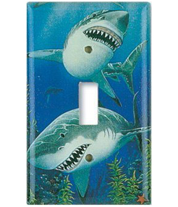 Sharks Switch Plate